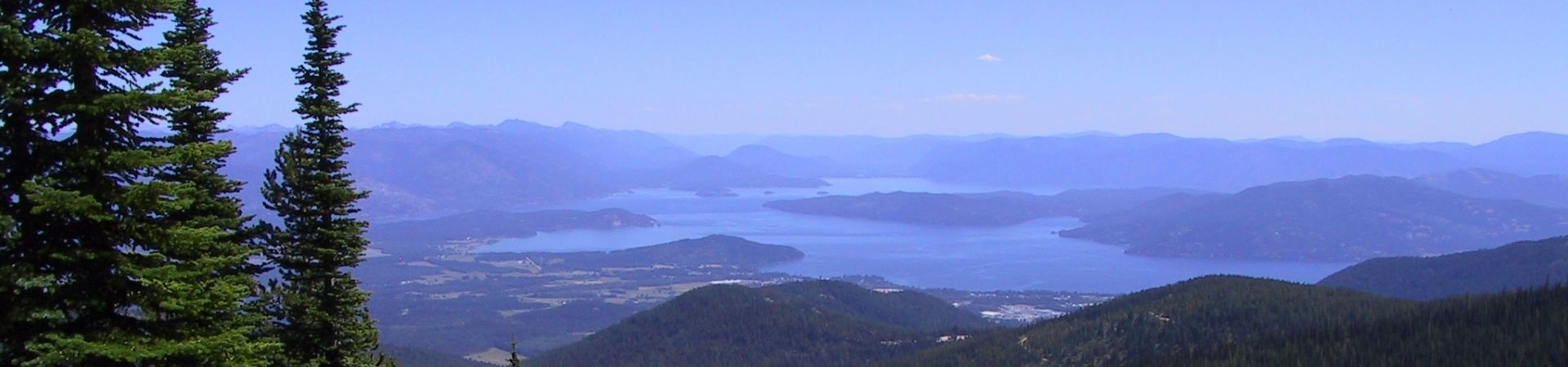 Sandpoint idaho from schweitzer