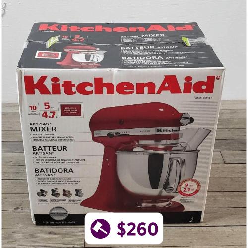 Red Kitchen Aid 10 Speed Mixer