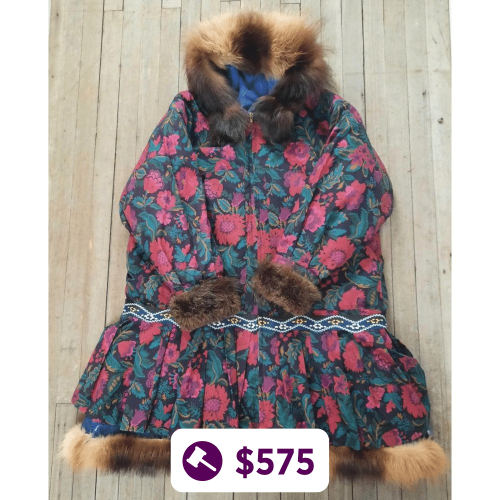 Floral Parka w/ Wolverine Accents