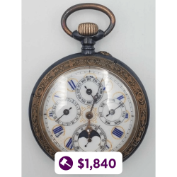 Swiss Moon Phase Pocket Watch