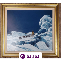 "Jon Van Zyle ""Ice Trail"" Original Painting"