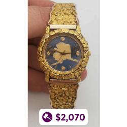 Men's Alaskan Gold Nugget Watch