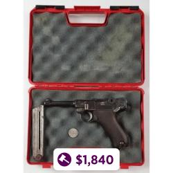 Deutsche Waffen und Munitionsfabriken (DWM) Luger 9mm Pistol