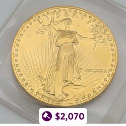 1947 Mexican 50 Peso Gold Coin