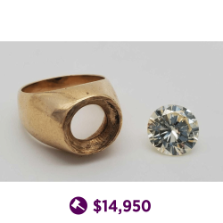 4.22 Ct Yellow Diamond w/ 14k Gold Setting