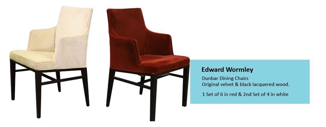 Alderfer Auction mid-century modern furniture Edward Wormley