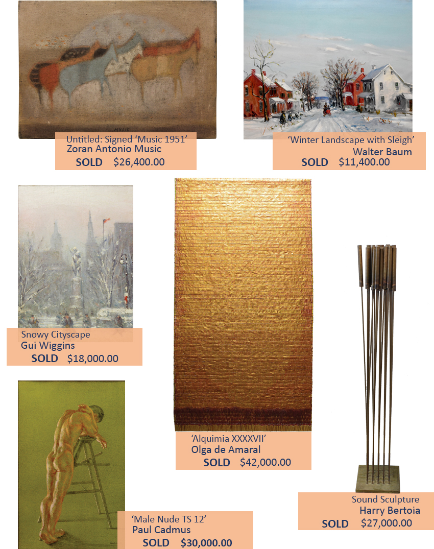 Alderfer Auction fine art paintings and sculptures highlights