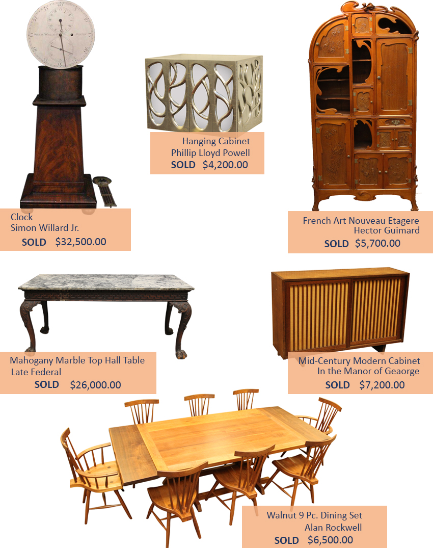 Alderfer Auction furniture highlights