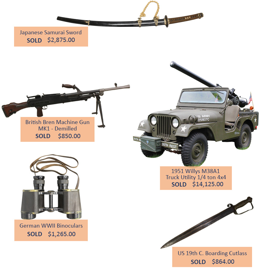 Alderfer Auction military highlights