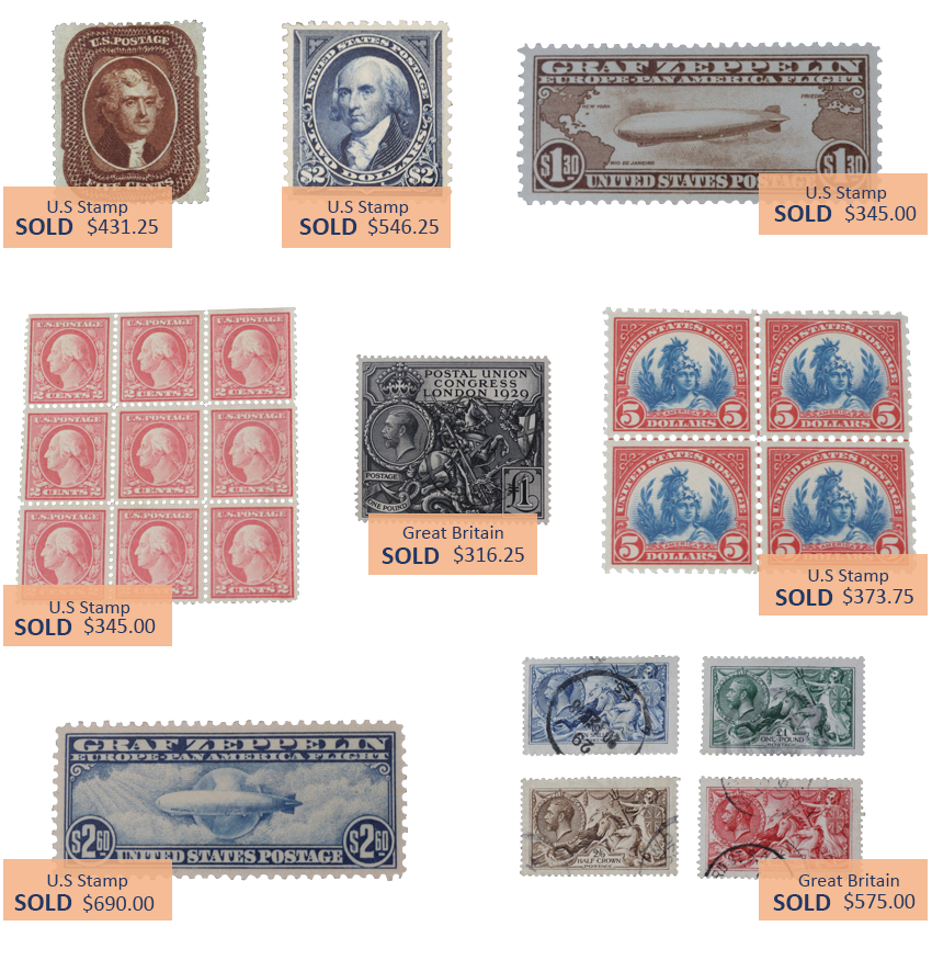 Alderfer Auction stamps highlights