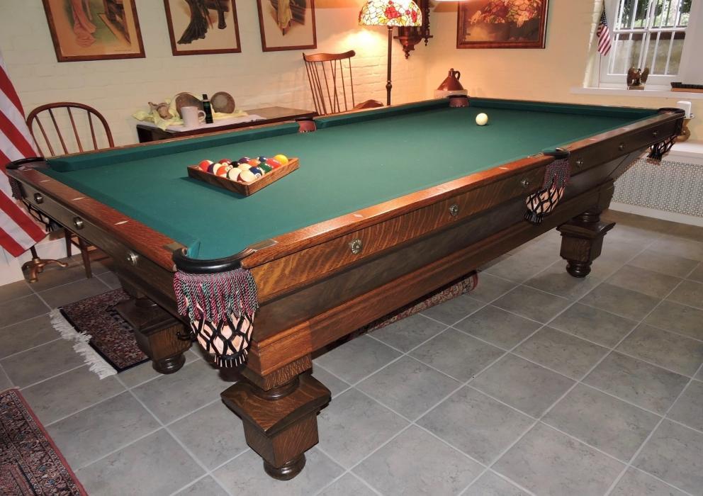 Antique Brunswick Pool Table Seeburg Juke Box Auction R Craig - Sterling pool table