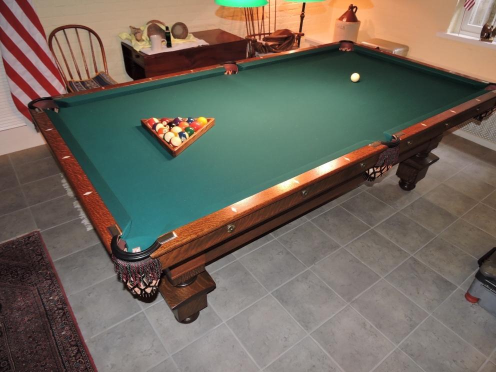 Antique Brunswick Pool Table Seeburg Juke Box Auction R Craig - Online pool table sales