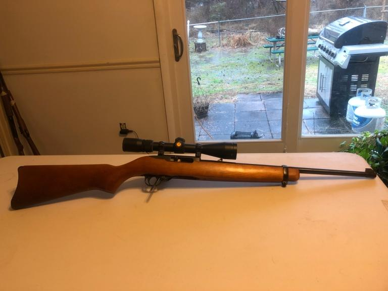 Ruger model 10-22, 22LR carbine with Nikon Prostaff scope SN: 128-86360