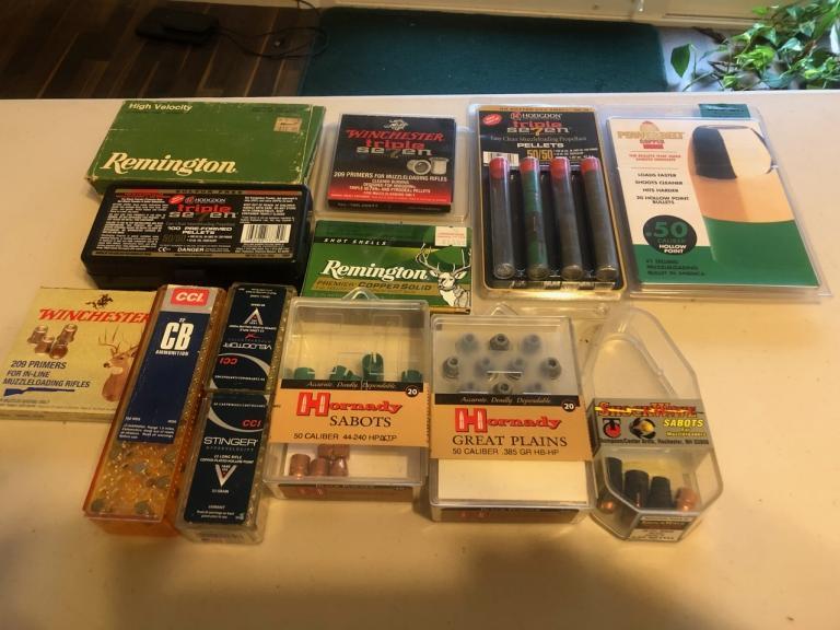Assorted Ammunition and Muzzleloader supplies