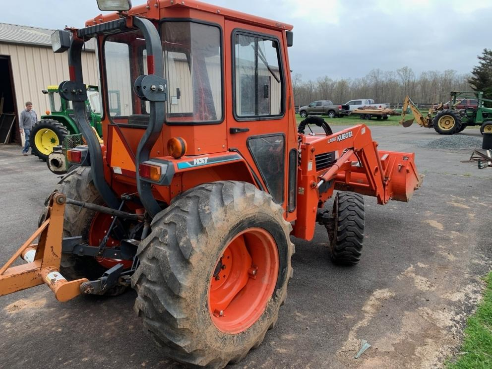 Kubota L3710D tractor with cab