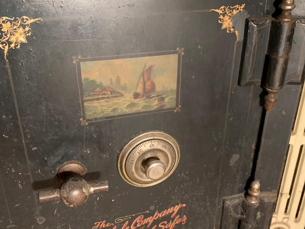 7)Antique Short Safe From The Wherle Company Fire Proof Safe, Newark Ohio