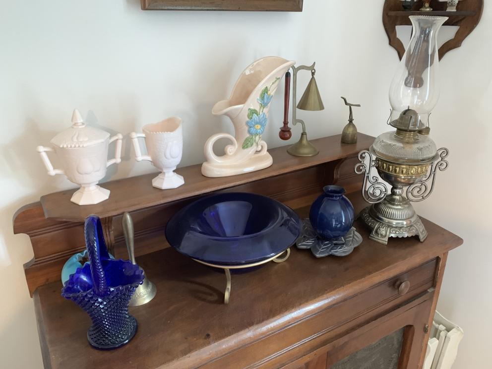 1)Blue Cobalt Glassware
