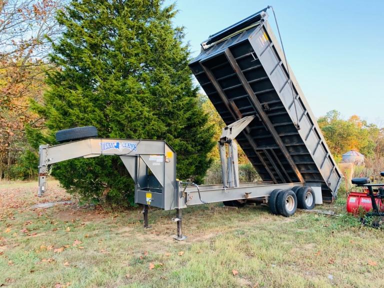 2013 Texas Bragg 6x16' Gooseneck Dump Trailer, (2) 12,000 lb dual wheel axles, VIN - 17XFG2024D1034461