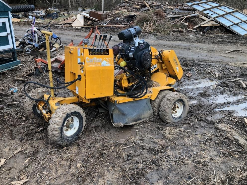 Carlton Stump Grinder With Kohler Engine, 27 HP