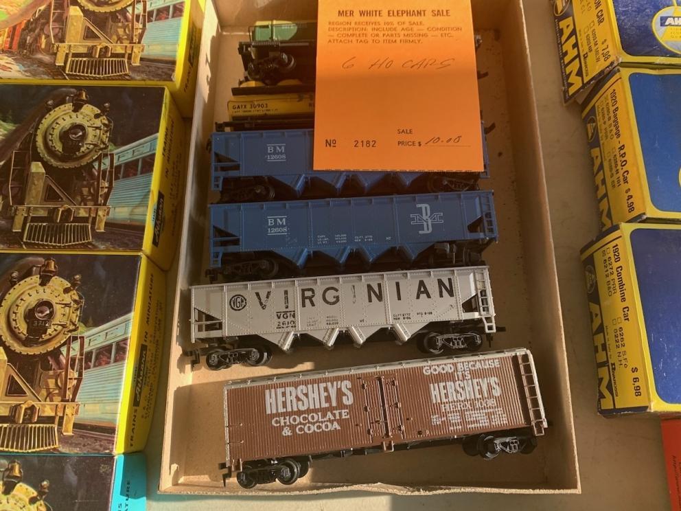 Hopper Cars, Virginian Hopper car, and Hershey's Chocolate Box Car