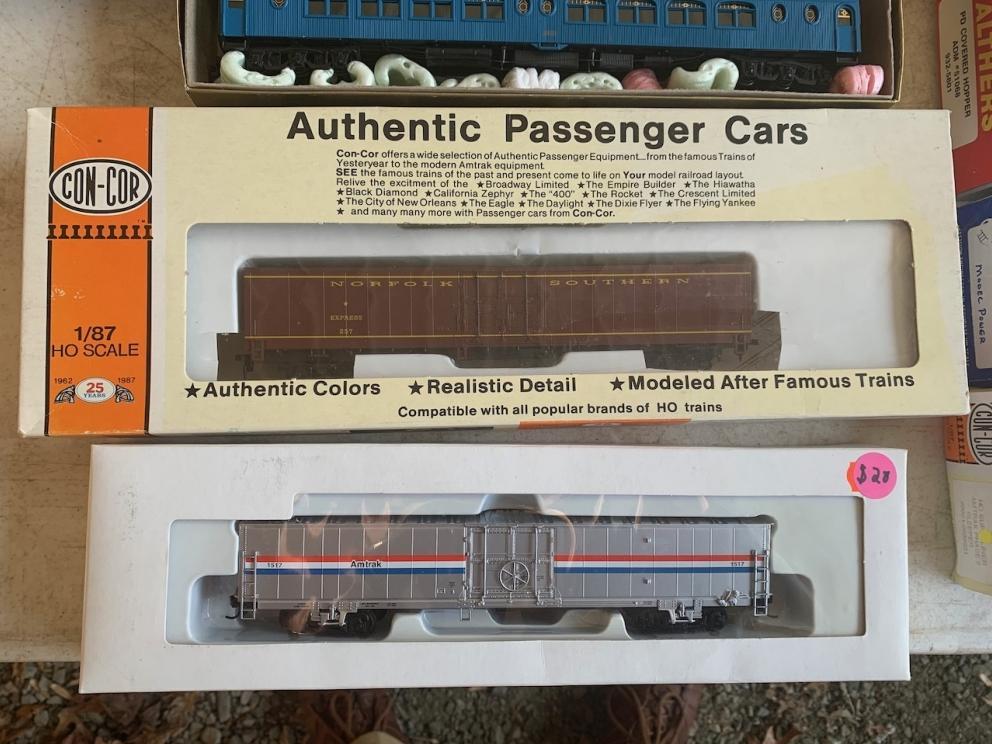 Norfolk Western Box Car and Amtrak Box Car