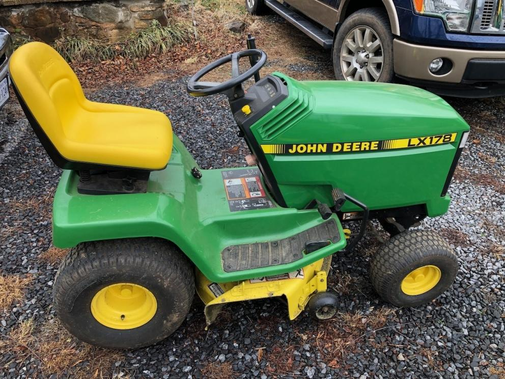 JD LX178 Tractor with Deck, 10 HP Kohler engine
