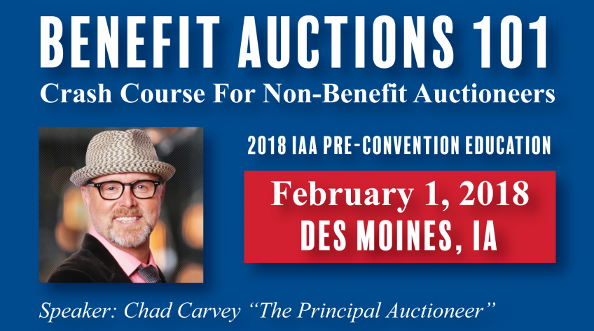 Join Us! Benefit Auctions 101: Crash Course for Non-Benefit Auctioneers