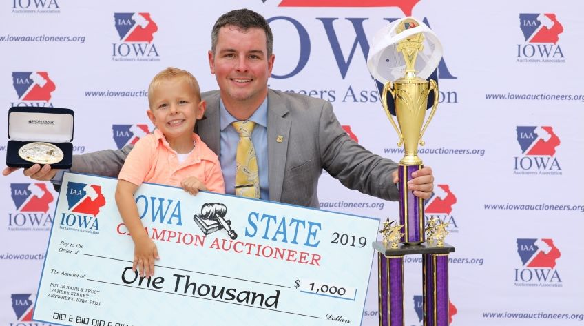 Wise Named 2019 Iowa State Champion Auctioneer