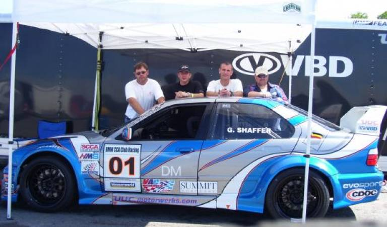 Team MAM/VBD Crew: (left to right) Howie Dunbrack, Greg Shaffer (driver), Cory Bradburn, Paul Hansen