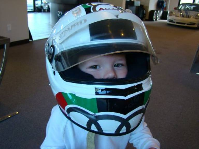 Future Racecar Driver - Adam Bass (if Greg has anything to do with it!)