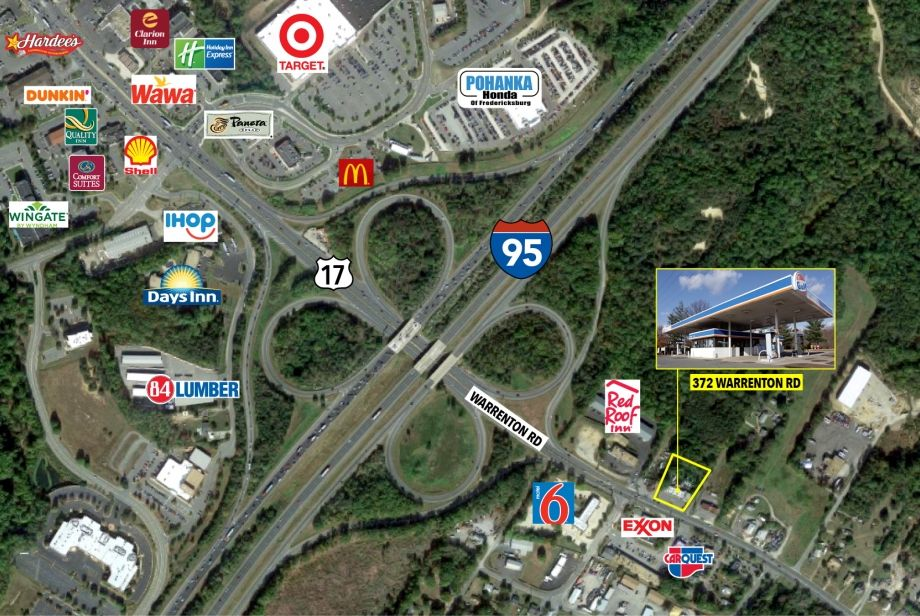 Image for 1 +/- AC in one of Fredericksburg's Busiest Corridors | 372 Warrenton Avenue, Fredericksburg, VA