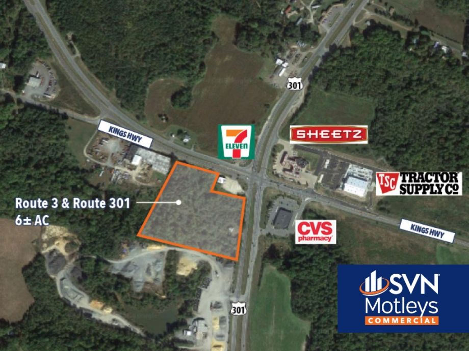 Image for FOR SALE | 6± AC at Heavy Traffic Intersection of Rt 3 & Rt 301 | Shiloh Crossing | King George, VA