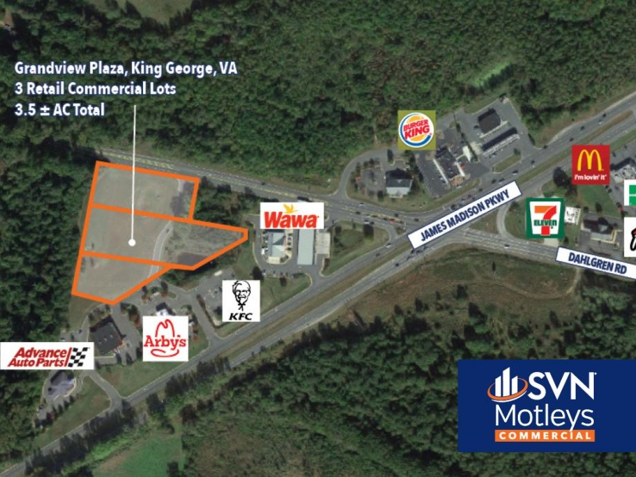Image for FOR SALE OR LEASE | 3 Retail Commercial Lots on Busy Intersection in King George, VA