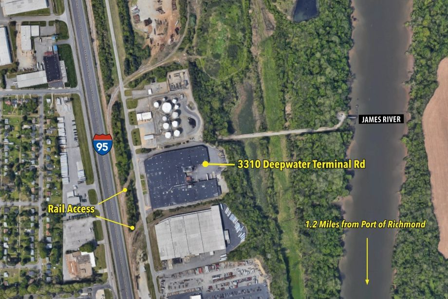 Image for FOR LEASE | 120,000 SF WAREHOUSE | RAIL, PORT  & I-95 ACCESS | 3310 DEEPWATER TERMINAL RD, RICHMOND