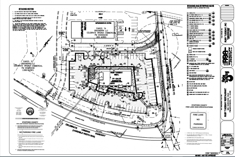 Image for FOR SALE | .975 AC | Retail Pad Site - Celebrate Virginia Parkway and Warrenton Rd Fredericksburg VA