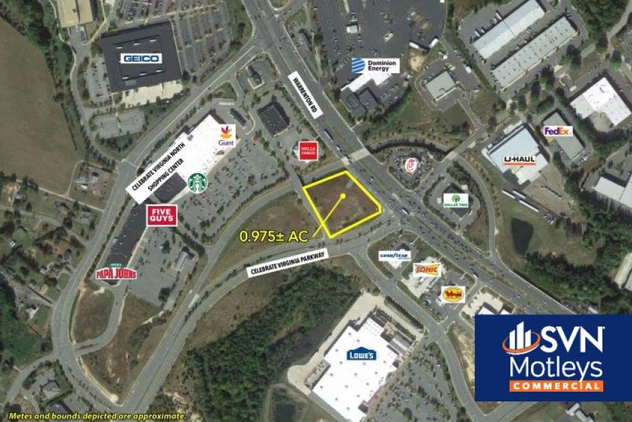 Image for FOR SALE | .975 AC | Retail Pad Site - Busy Corner Lot in Fredericksburg VA