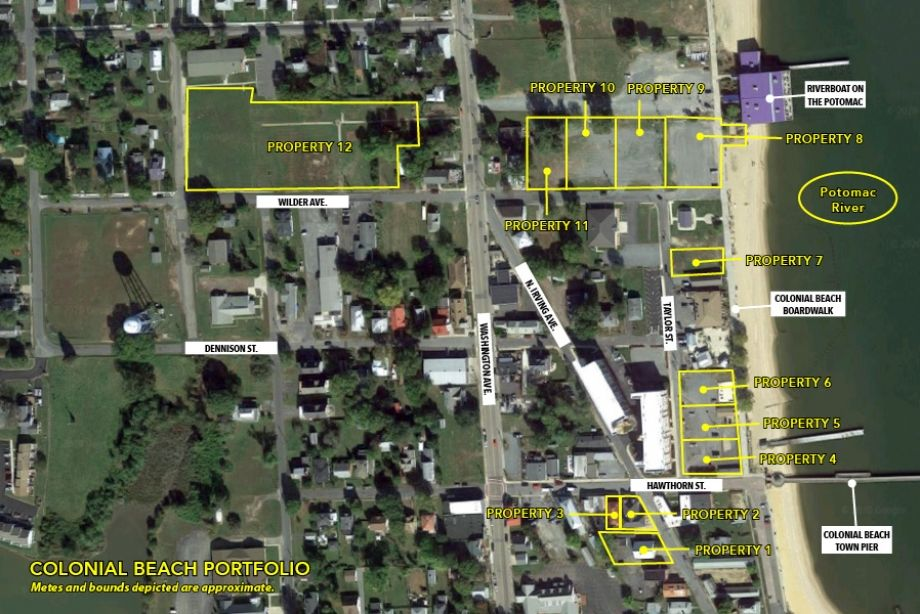 Image for FOR SALE | 12 Property Portfolio with Downtown and Waterfront Lots on the Potomac River | Commercial