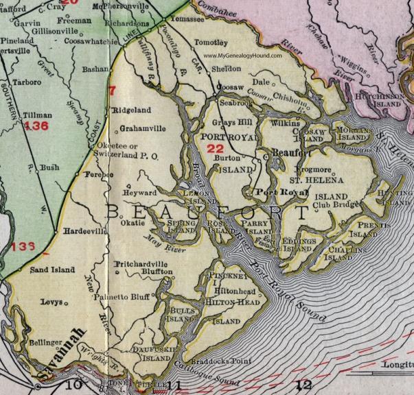 Sc-beaufort-county-south-carolina-1911-map-rand-mcnally