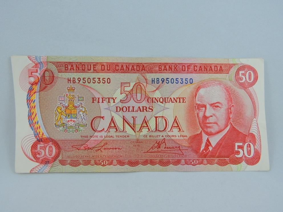 1975 Canadian $50 Banknote