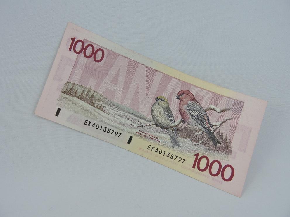 Canadian $1000 Banknotes