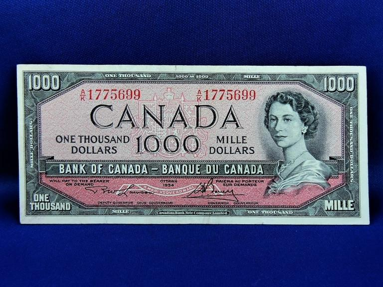 !954 $1000 Bank Of Canada
