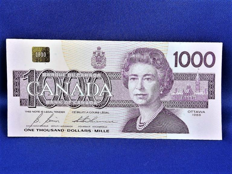 1988 Canadian Banknote $1000