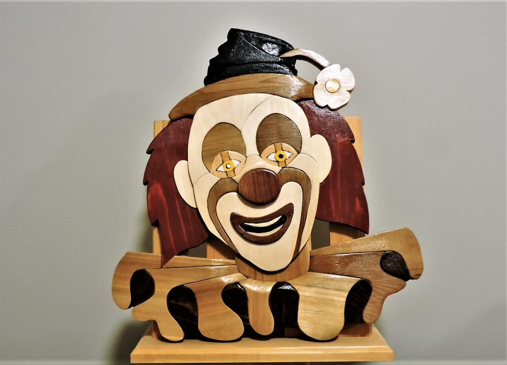 The Clown by Kirkpatrick Intarsia Woodworking