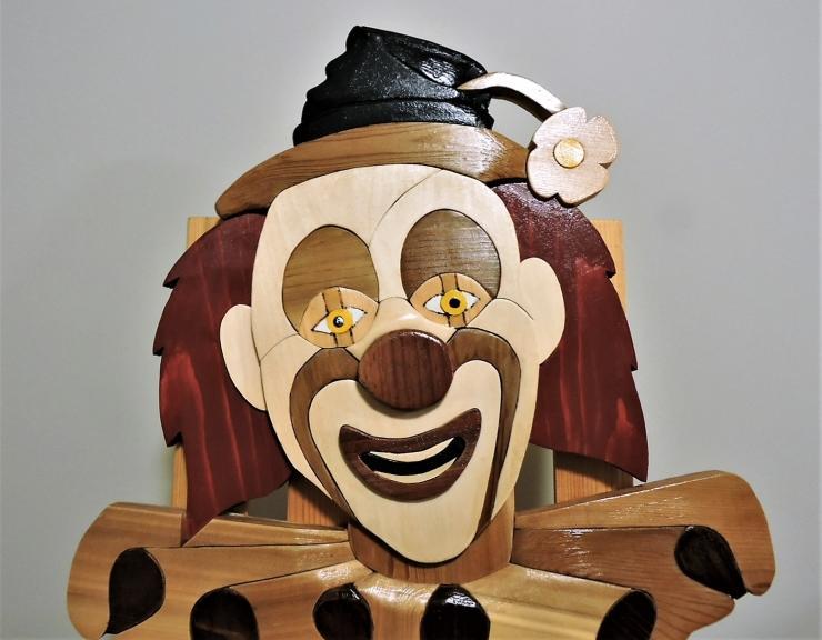 The Clown by Kirkpatrick Intarsia Woodworking
