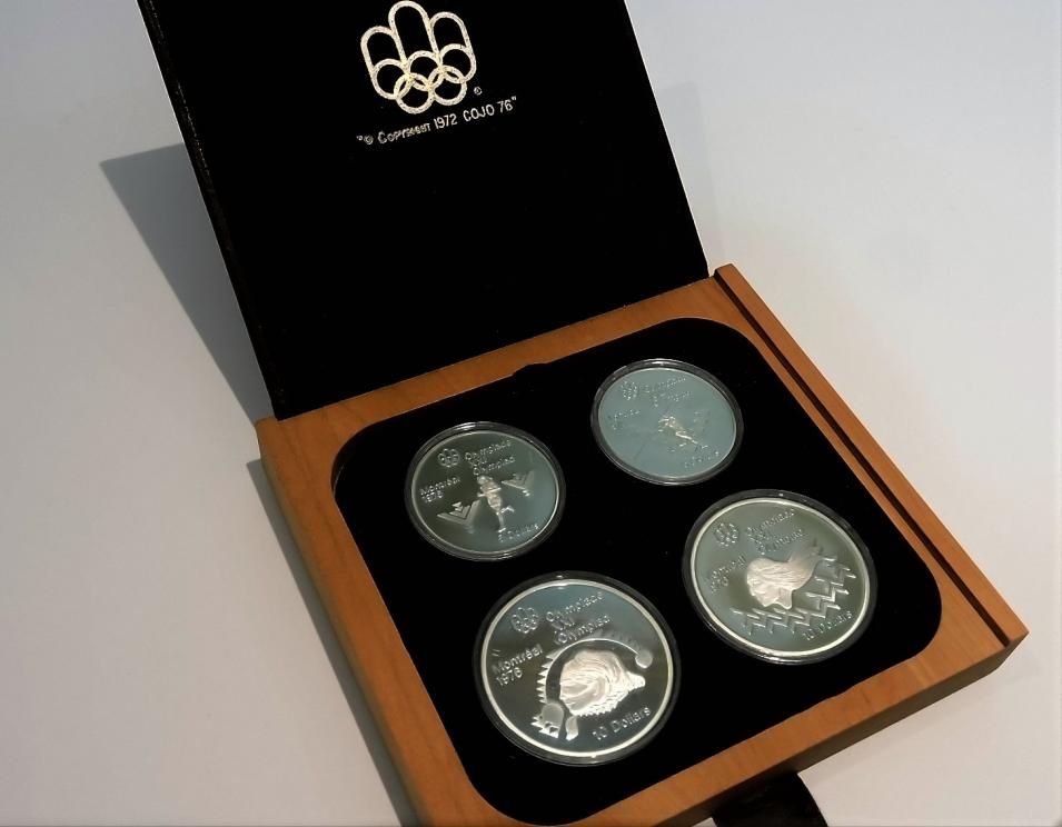 1976 Olympic Four Coin Set