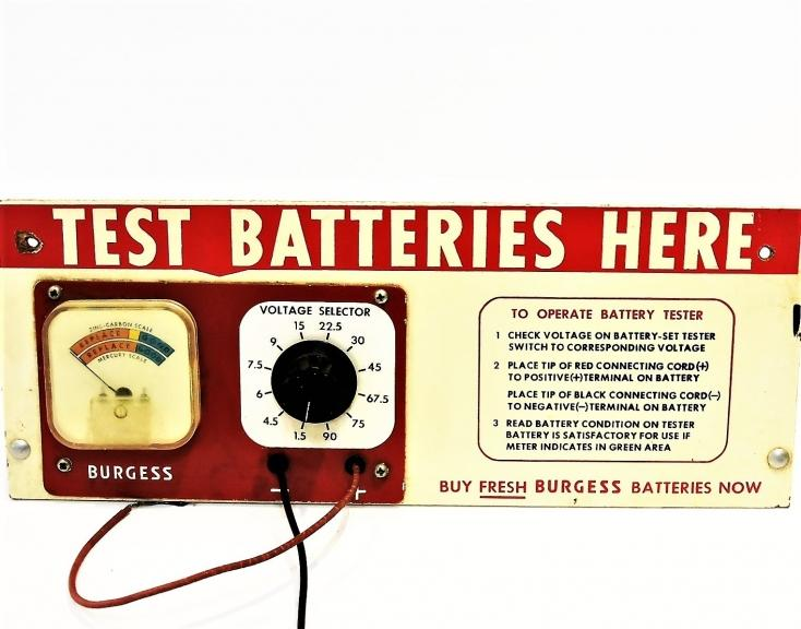 Vintage Retro Burgess Battery Tester