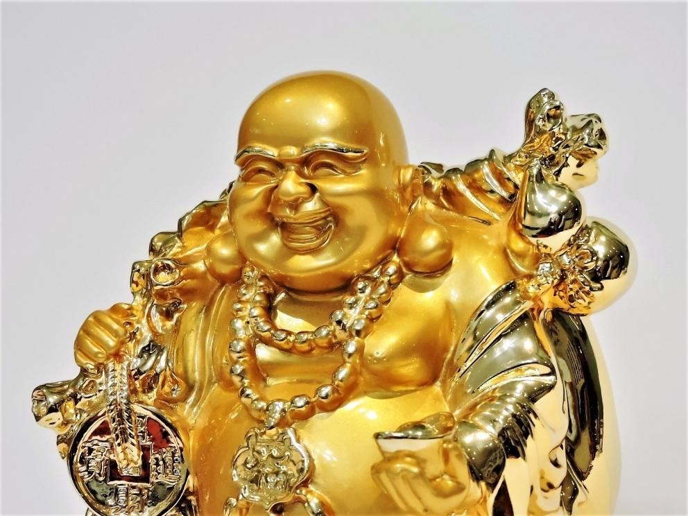 GOLDEN LAUGHING BUDDHA