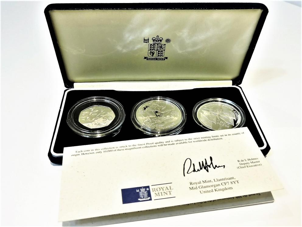 ROYAL MINT UNITED KINGDOM 50TH ANNIVERSARY INVASION OF EUROPE