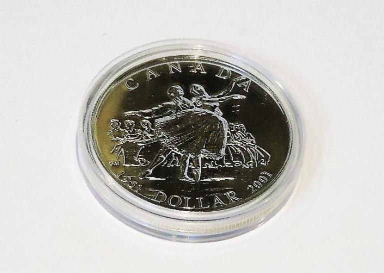 NATIONAL BALLET OF CANADA 50TH ANNIVERSARY 2001 SILVER COIN