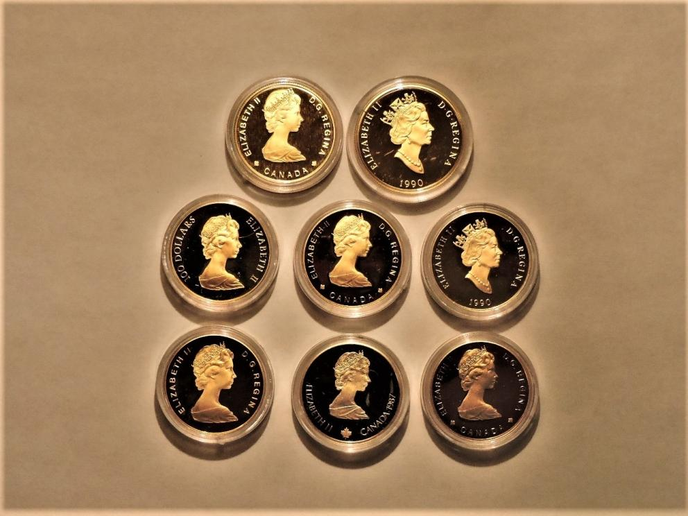Eight Premium Canadian Gold Coins